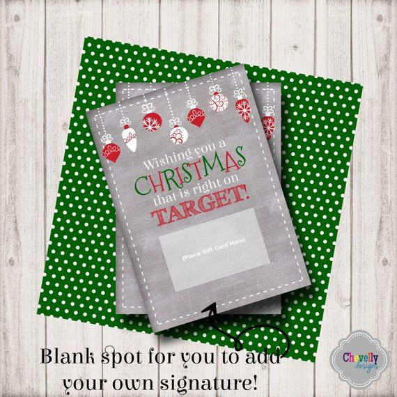 Target Christmas Gift Card Printable - INSTANT DOWNLOAD ...