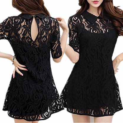 Stylish Spaghetti Tank Top + Lace Dress Twinset. from fashion is my attitude