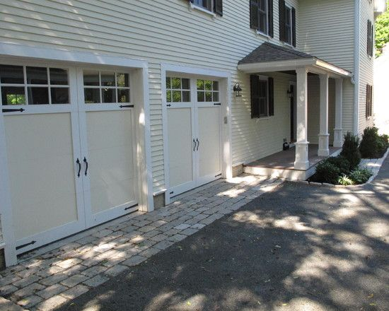 Home Exterior And Landscape With Gravel Driveway Snow Removal: Remarkable  Traditional Garage And Shed Gravel