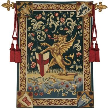Heraldic Mystical Dragon Tapestry | Dragon wall, Medieval tapestry, Tapestry