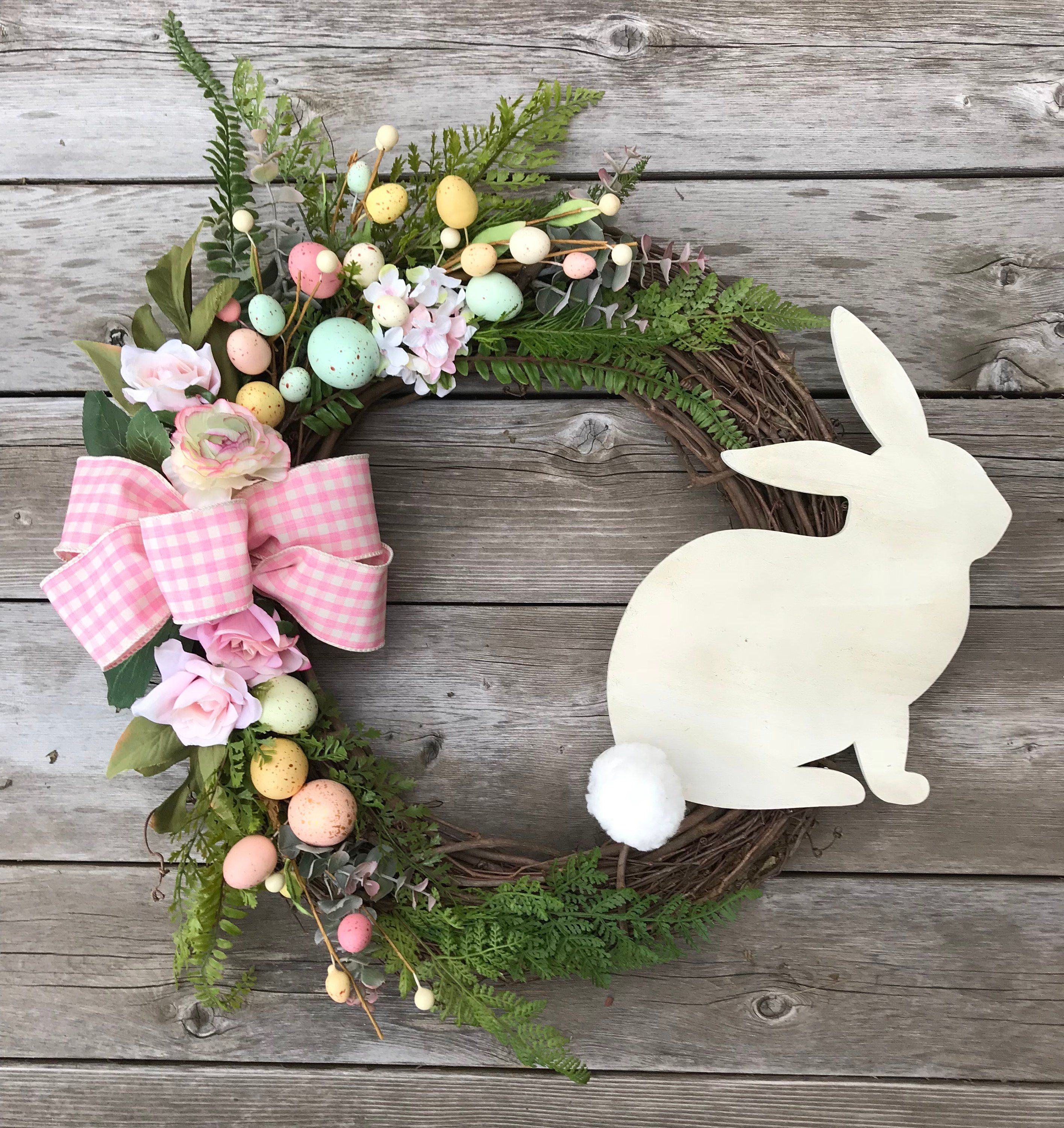 Photo of Mom Gift, Easter Wreath, Easter Bunny Decor, Easter Decoration, Easter Front Door Wreath, Easter Gifts, Easter Door Decor, Easter Bunny