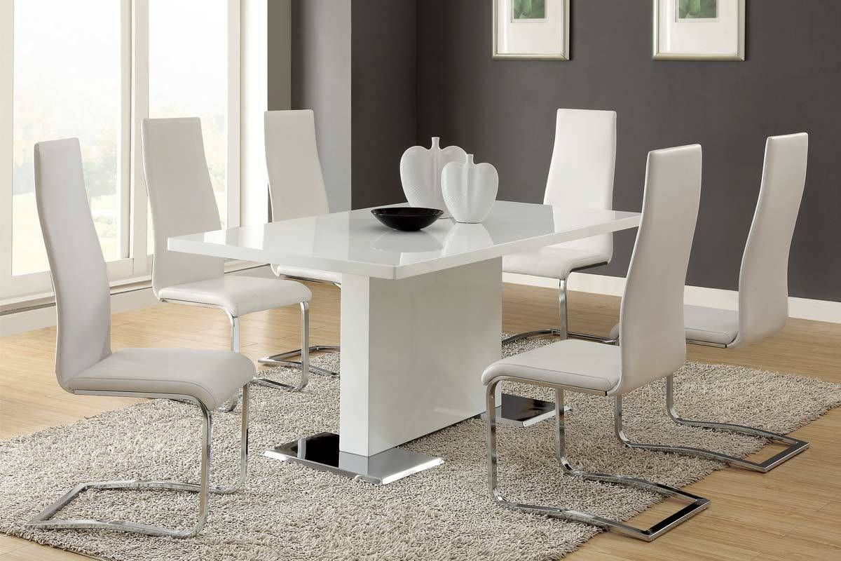 Dining table u chairs set wht furniture