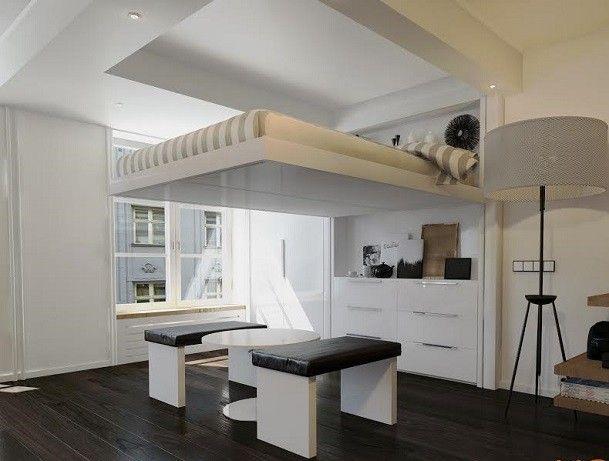 Un Appartement De Luxe Avec Des Meubles Confortables Et Un Plafond À Double Hauteur