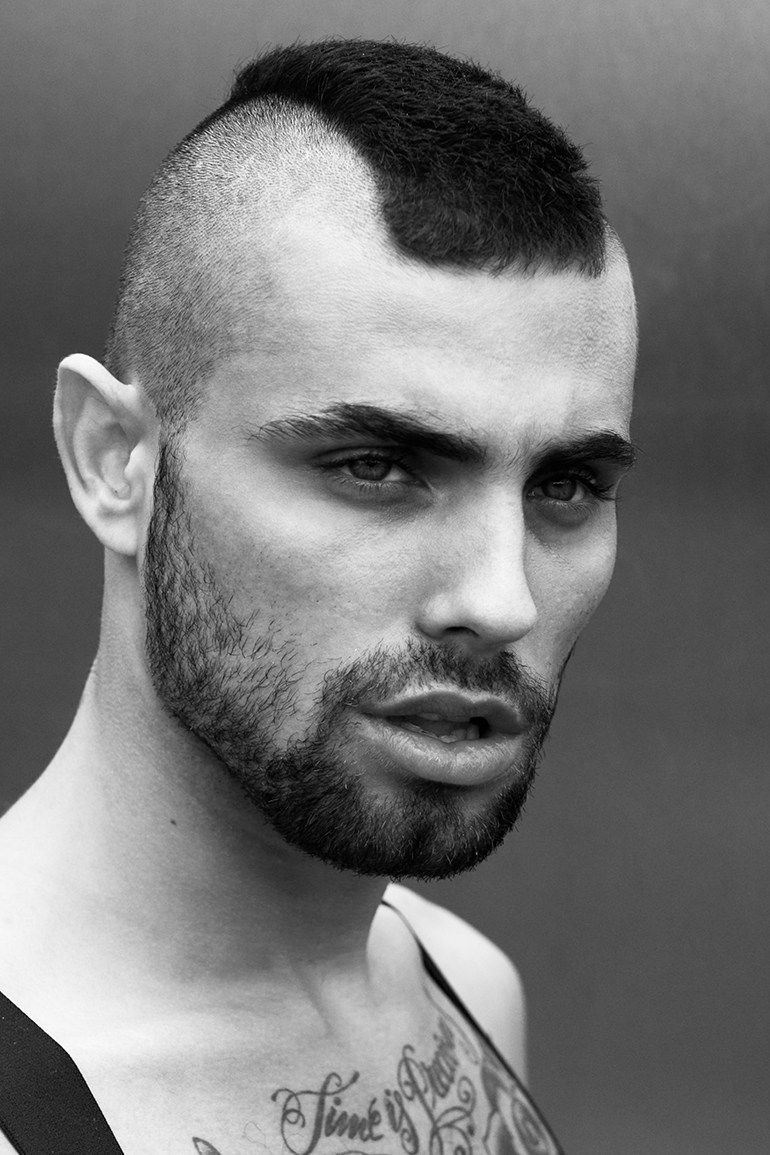 How to get the look u mohawk with shaved head mens hairstyle