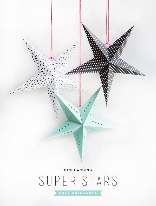 Adviento día 10 / PRINTABLES / Pinterest Paper stars, Free