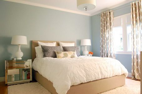 Warm Blue accent wall + minimalist colors | For the Home ...