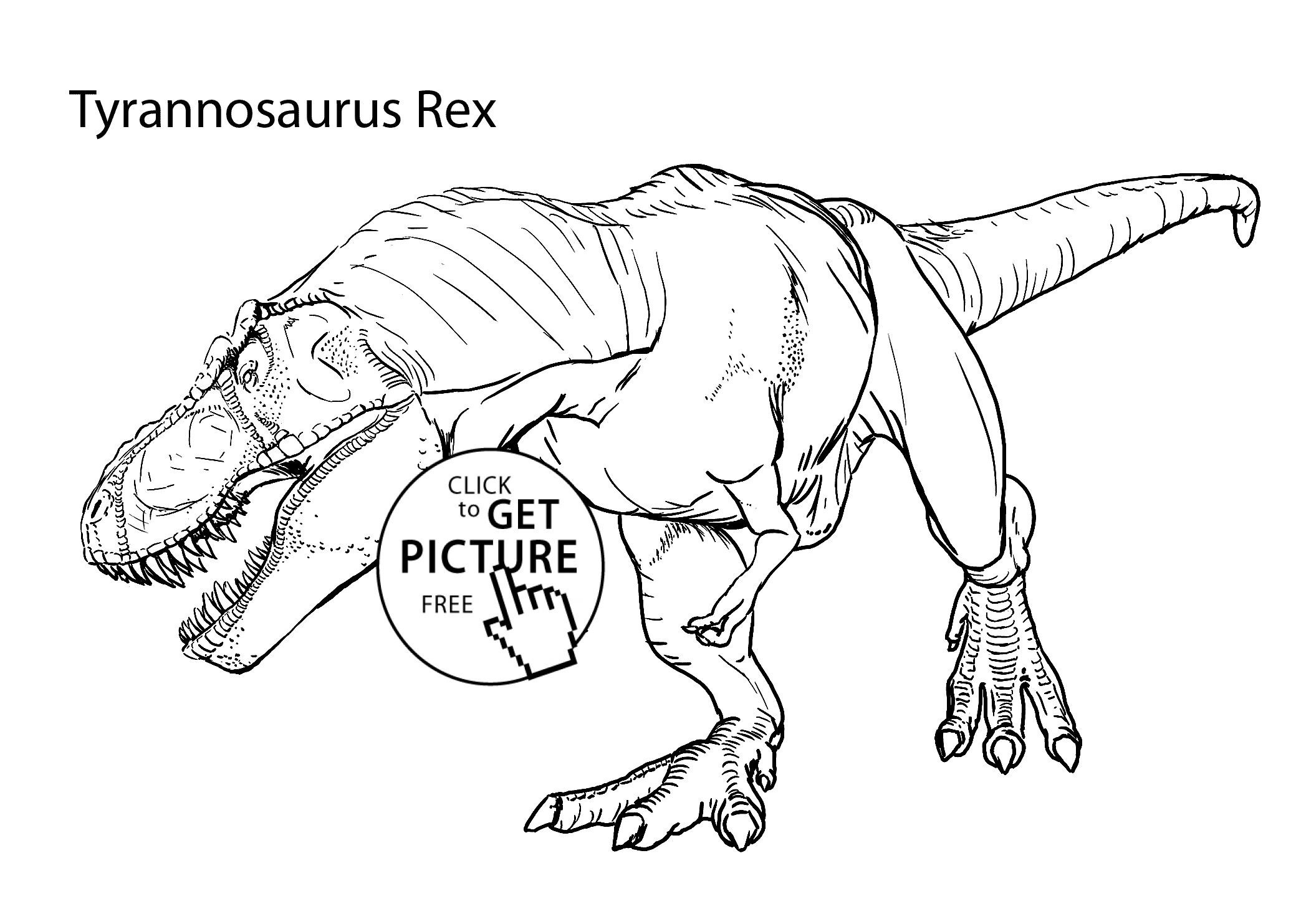 Dinosaur Coloring Pages Tyrannosaurus Rex Realistic Coloring Pages