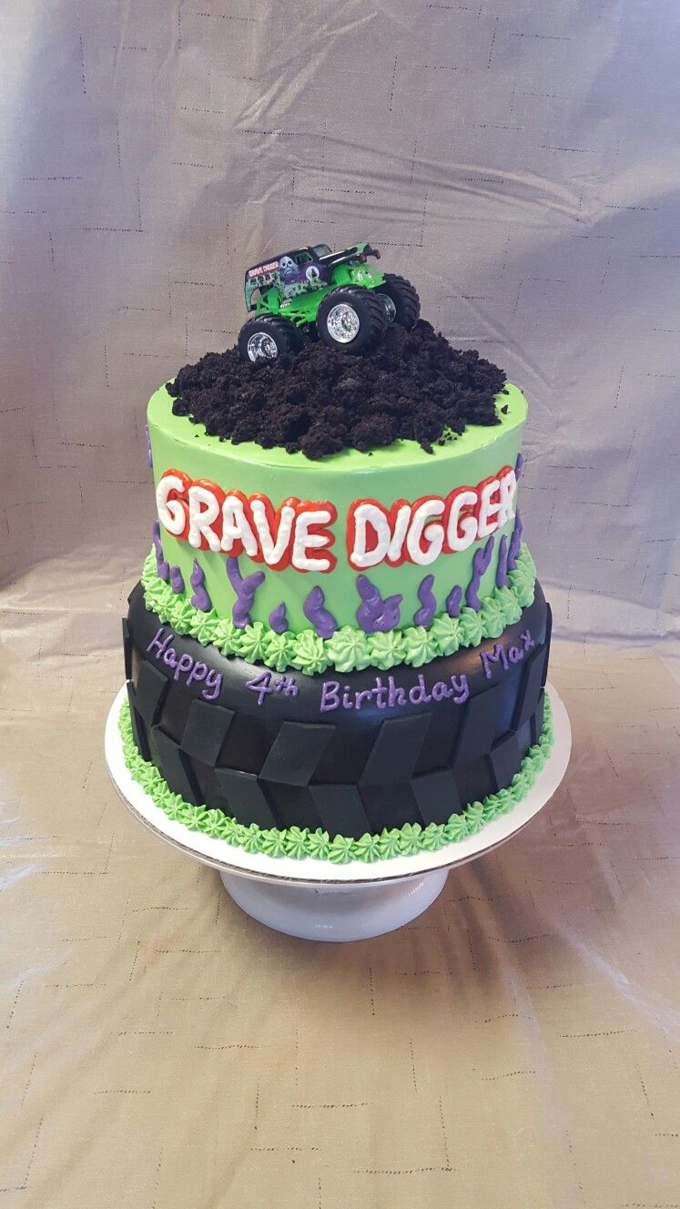 Grave Digger Cake Monster Truck Birthday Cake Monster Jam
