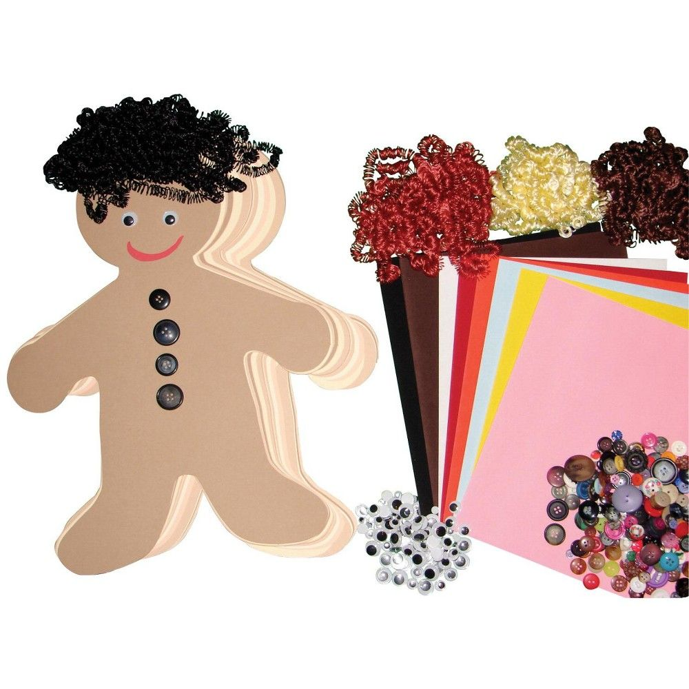 Hygloss Diverse Multi-Ethnic People Kit, 16 Inches, pk of 24