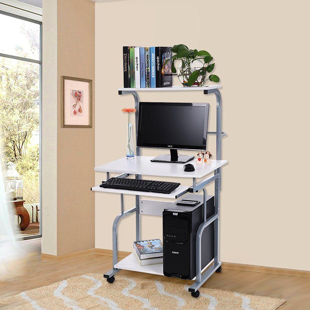 Songmics escritorio de la computadora mesa de ordenador - Mesa escritorio moderna ...