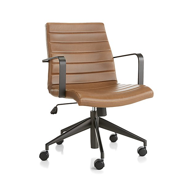 Graham Brown Leather Desk Chair With Images Brown Leather