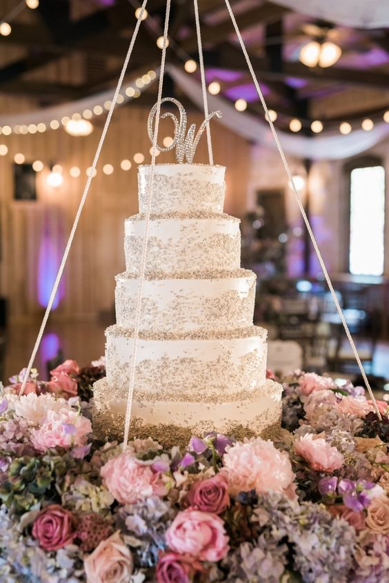 Chic Wedding Cake Idea Featured Photographer Julie Paisley Photography Via Style Me Pretty