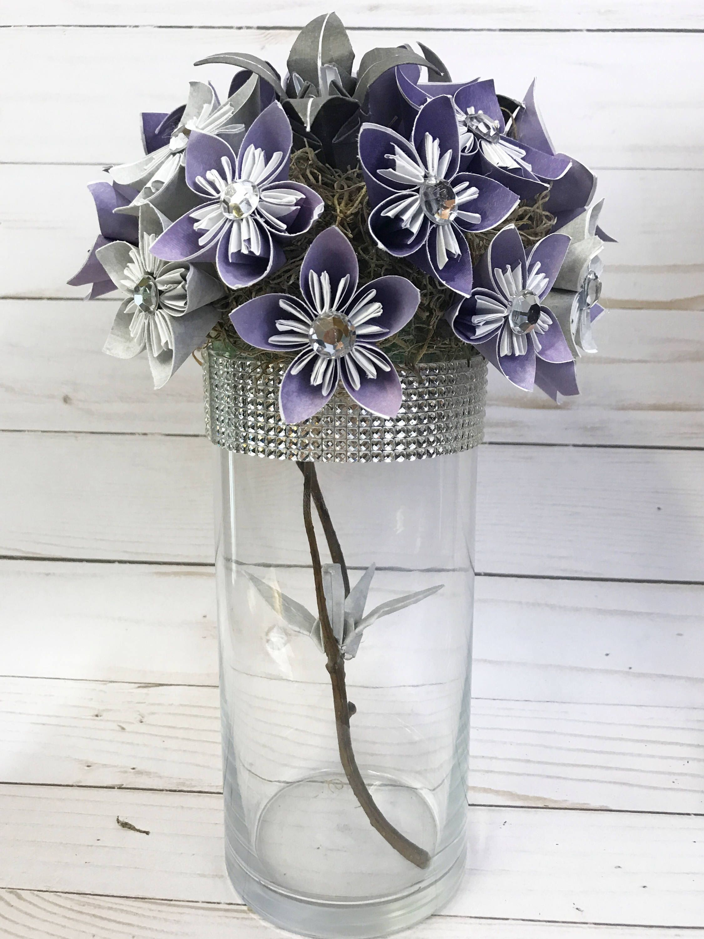 Centerpiece Paper Flowers Wedding Decor Origami Flowers Origami