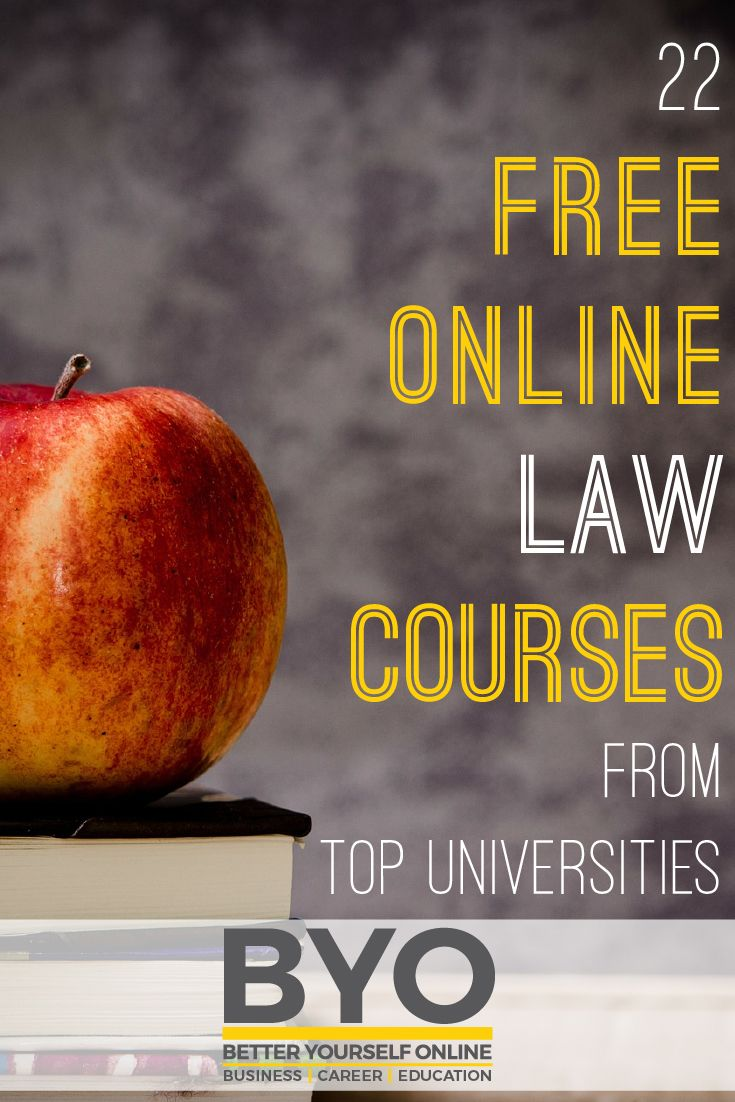 22 Free Online Law Courses From Top Universities - Here are 22 free