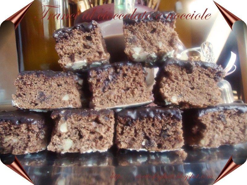 Tranci al cioccolato e nocciole