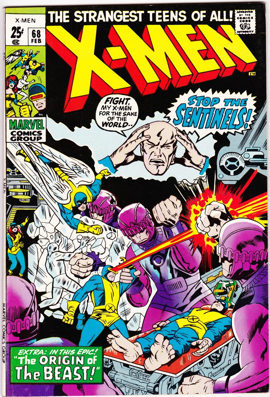 Uncanny X Men 68 1st Series 1963 May 1970 Marvel Comics Etsy In 2020 Jack Kirby Marvel Comics Covers Comics