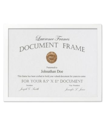 Lawrence Frames White Wood Certificate Picture Frame Gallery Collection 8 5 X 11 In 2020 Document Frame Black Picture Frames Picture Frames