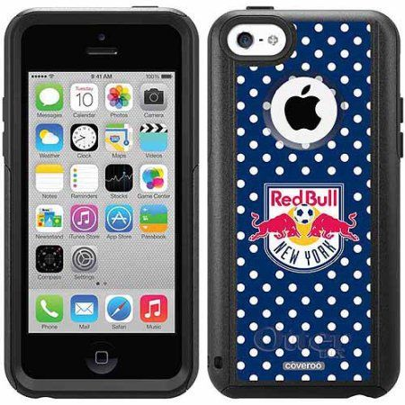 New York Red Bulls Polka Dots Design on OtterBox Commuter Series Case for Apple iPhone 5c