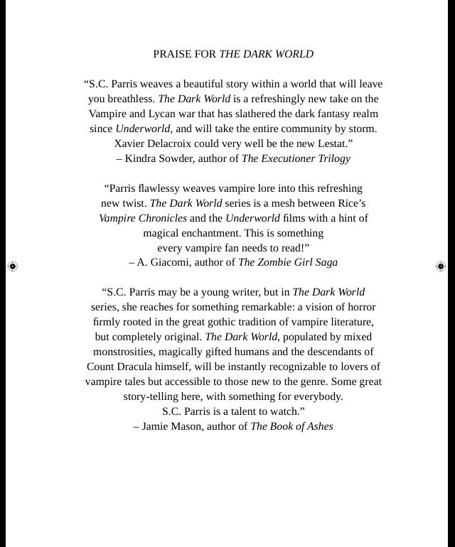 Praise For The Dark World Book   The Dark World Series