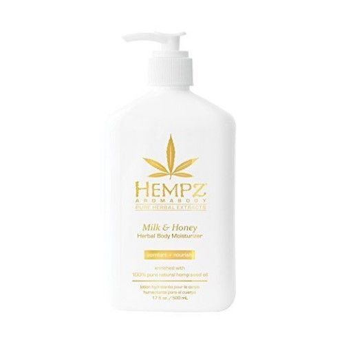 Hempz Milk Honey Herbal Body Moisturizer 17 Oz Lotion For Dry
