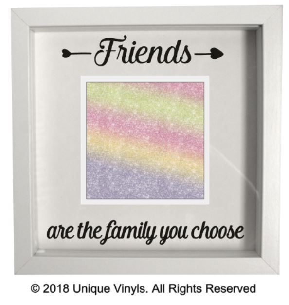 Details About Friends Are The Family You Choose Vinyl Sticker For