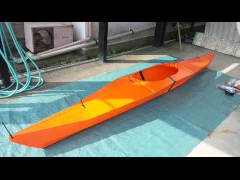 DIY ORU coroplast kayak  12' long, made with sheets taped
