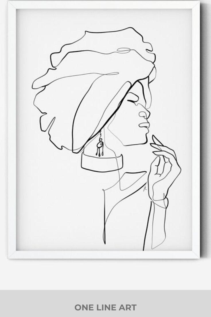 Black Girl With Natural Hair Drawing at GetDrawings | Free
