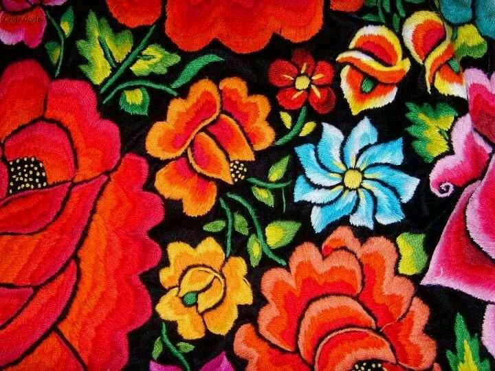 Tehuantepec bordado istme o pinterest bordado - Disenos textiles del mediterraneo ...