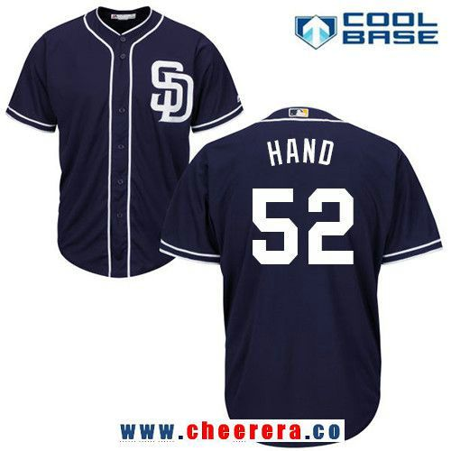 Men's San Diego Padres #52 Brad Hand Gray Road Stitched MLB Majestic Cool Base Jersey