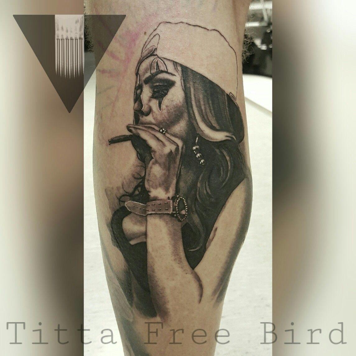Badass girl tattoo in progress titta free bird bz tattoo for Girls with badass tattoos