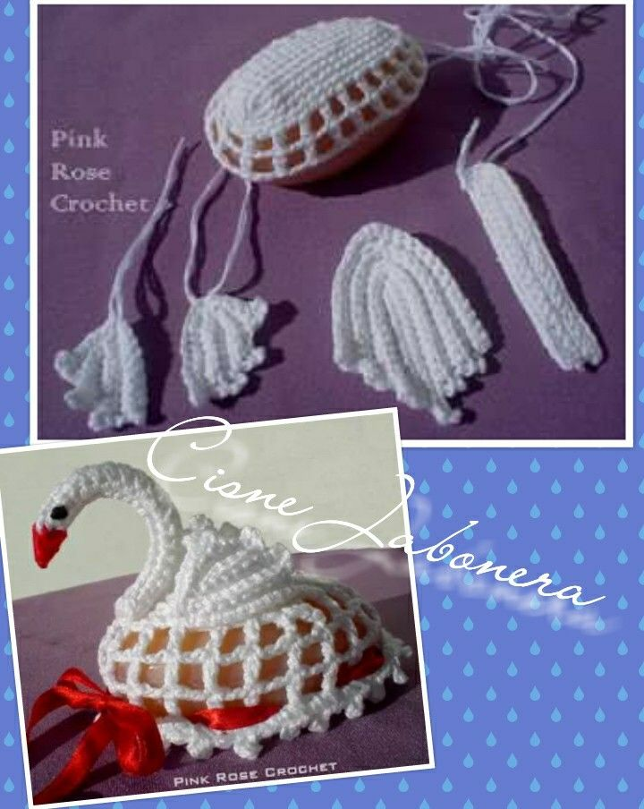 Cisne jabonera crochet idea | Crochet, knitting, weaving, rugs ...
