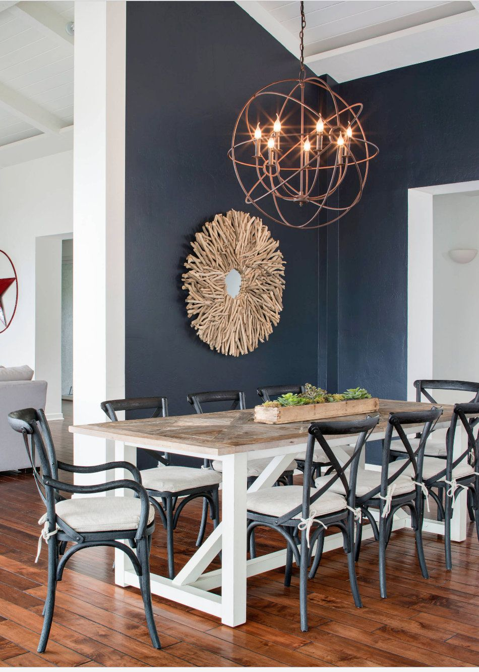 Tips For Using Dark Moody Paint Colors Dining Room Blue Dining Room Decor Modern Dining Room