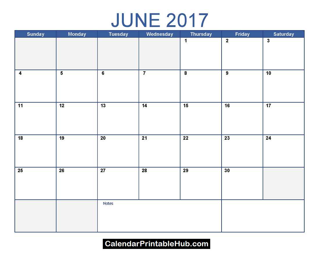 June 2017 Calendar Template Httpcalendarprintablehubjune