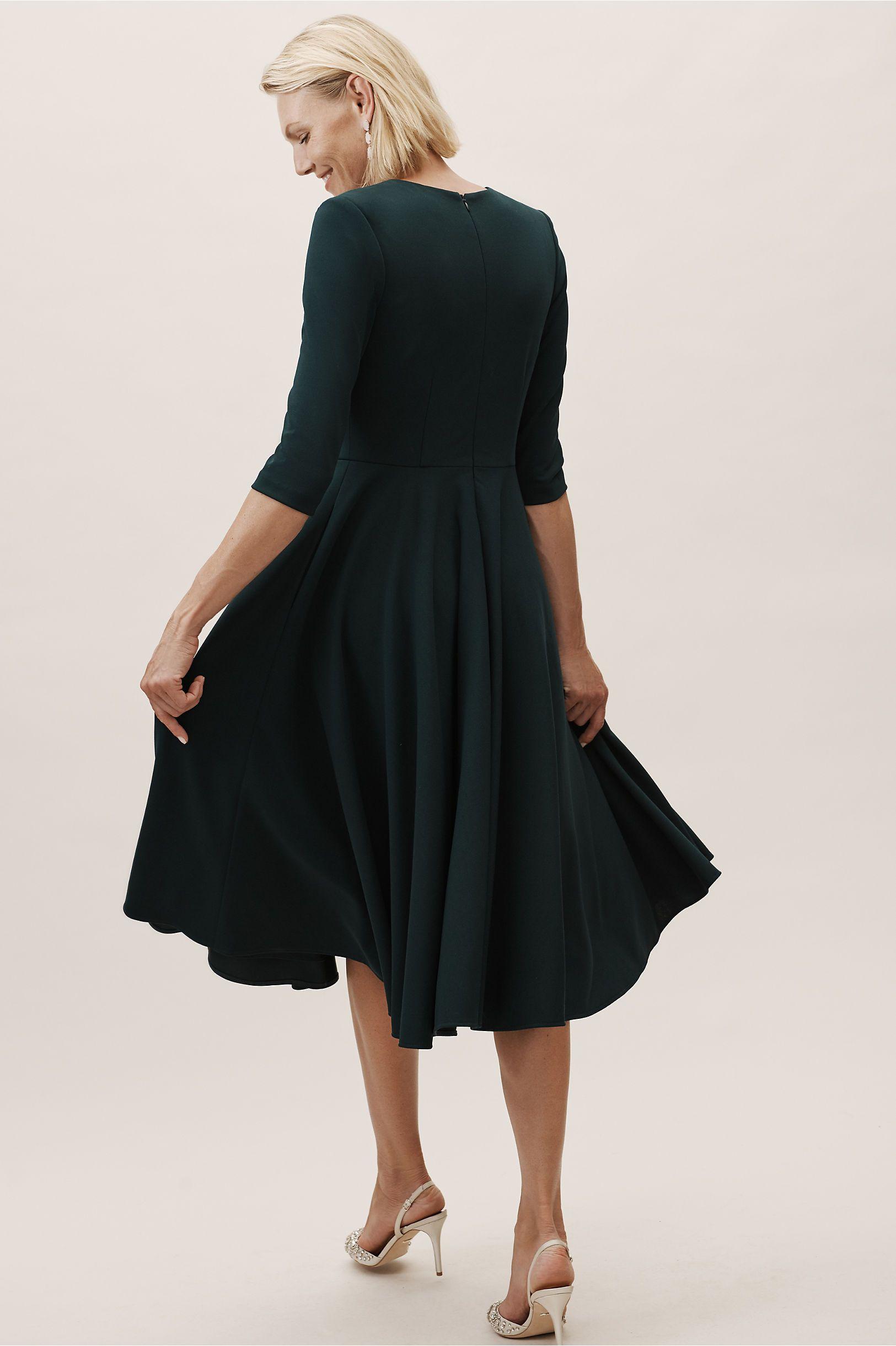 Valdis Dress Black tea length dress, Dresses, Sleek dress