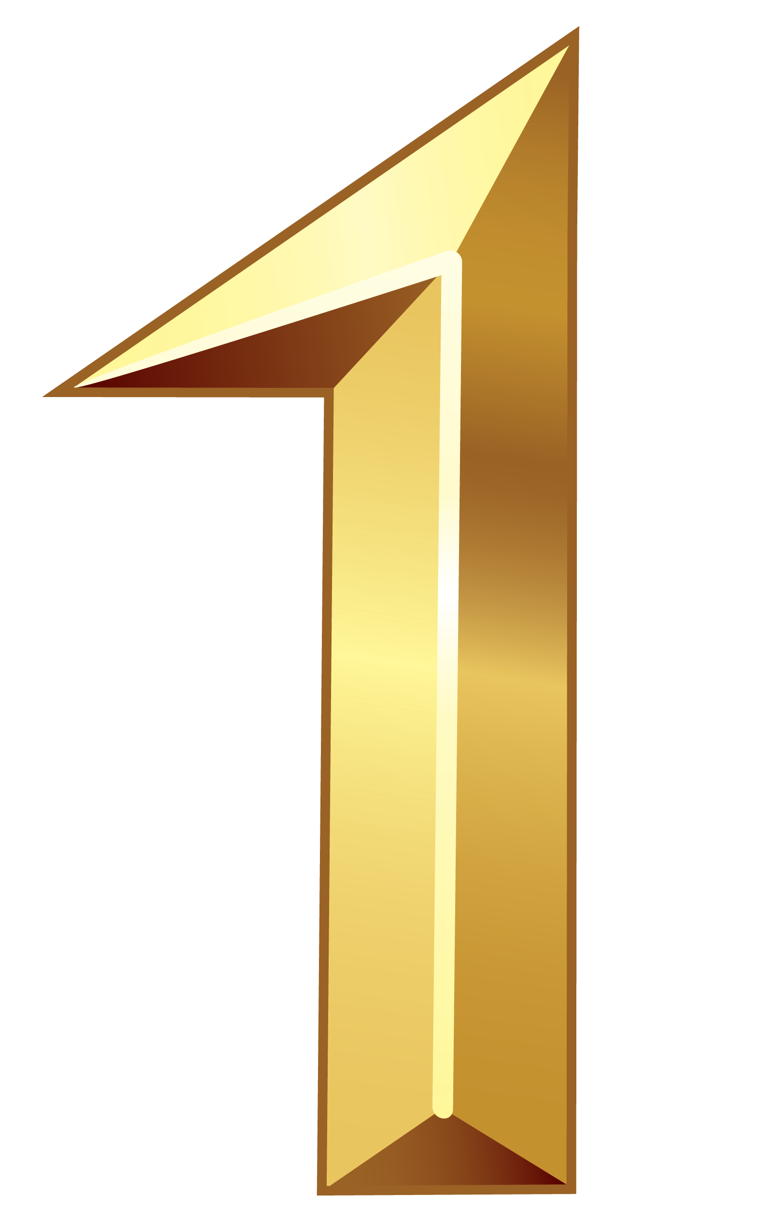 Gold Number One Png Clipart Image Gold Number Clip Art Clipart Images