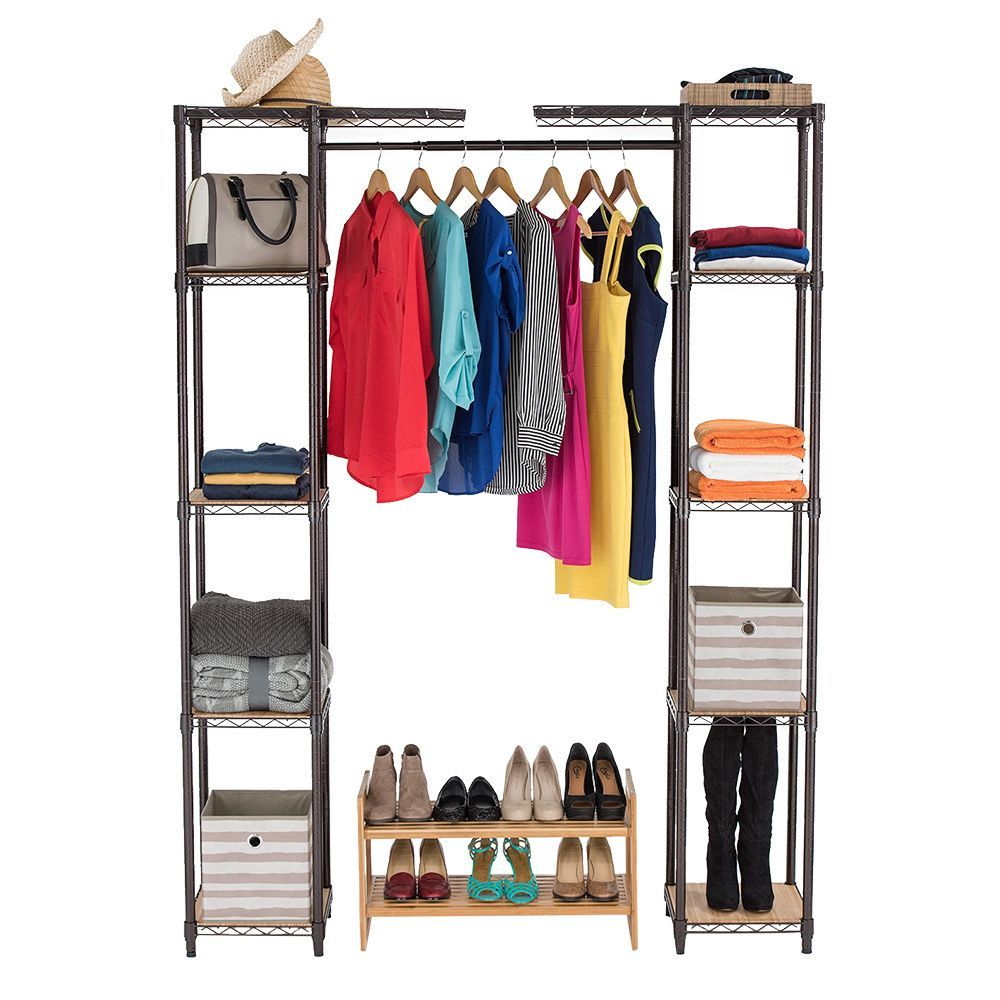 Constructed of steel wire, these shelves are adjustable at 1 inch increments and allow for personal configuration.  Assembly requires no tools, and can be fixed with adjustable feet levelers.