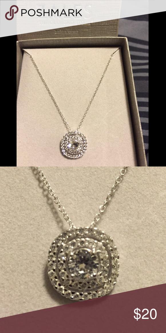 Zales White Sapphire Pendent NWT Zales jewelry White sapphire