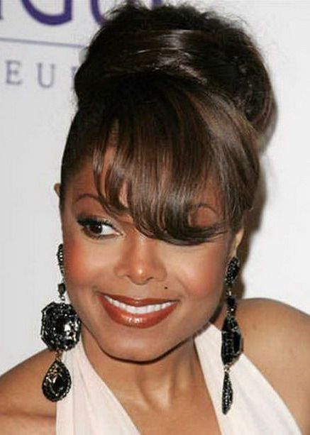 Updo Hairstyles For Black Women With Medium Length Hair Updo Medium Length Hair Styles Hair Styles Stylish Hair