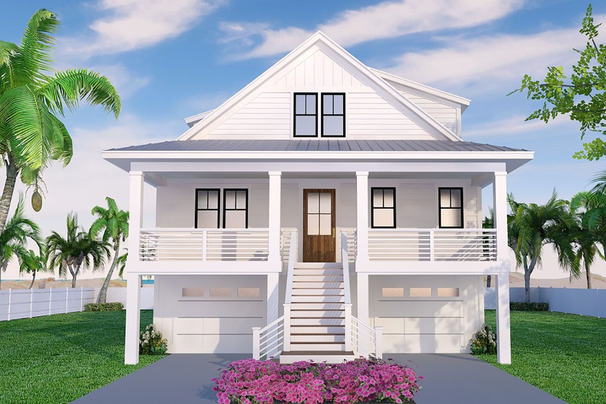 Plan 15261nc 3 Bed Beach House Plan With Front And Rear Porches In 2020 Beach Cottage House Plans Beach House Plan Beach House Plans