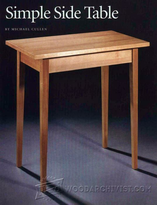 Simple Side Table Plans Furniture Plans And Projects Woodarchivist Com Simple Side Tables Table Plans Table