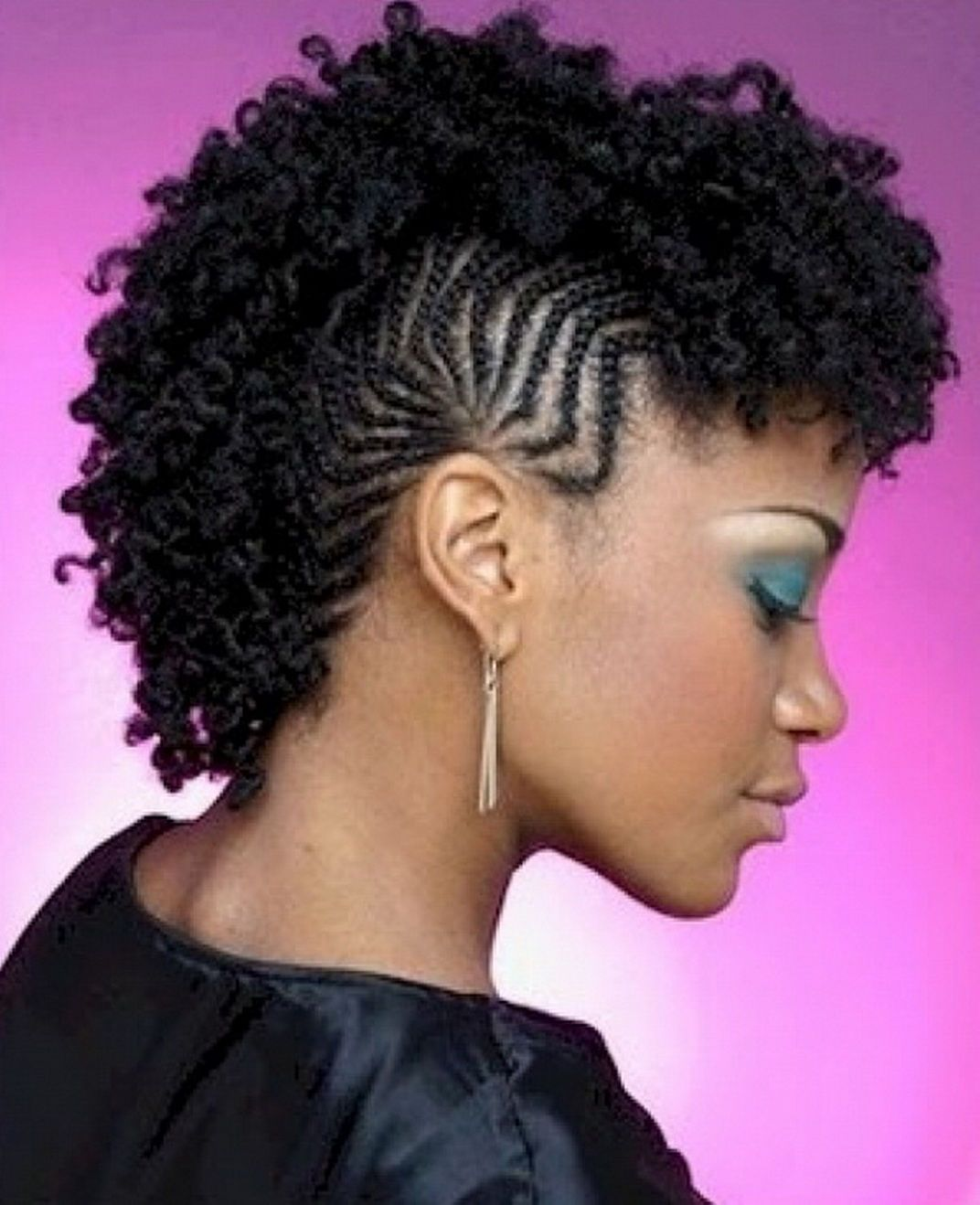 Natural Braided Mohawk Hairstyles For Black Women Ten