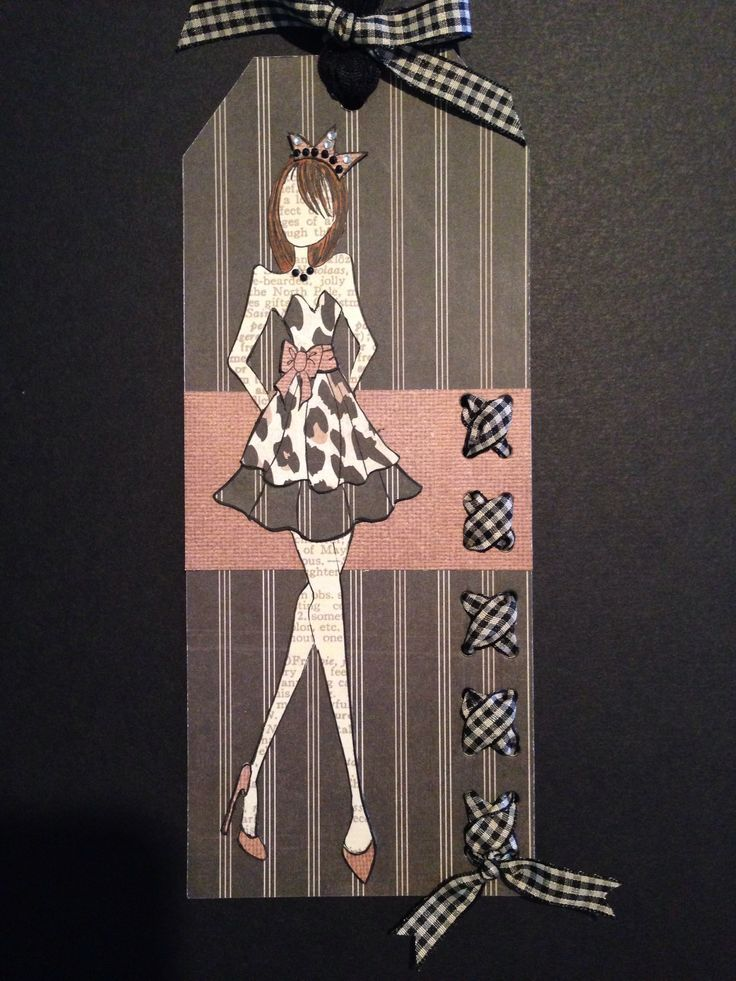 Party Time Prima Doll by Anne. Like the cross stitch accent on the tag.