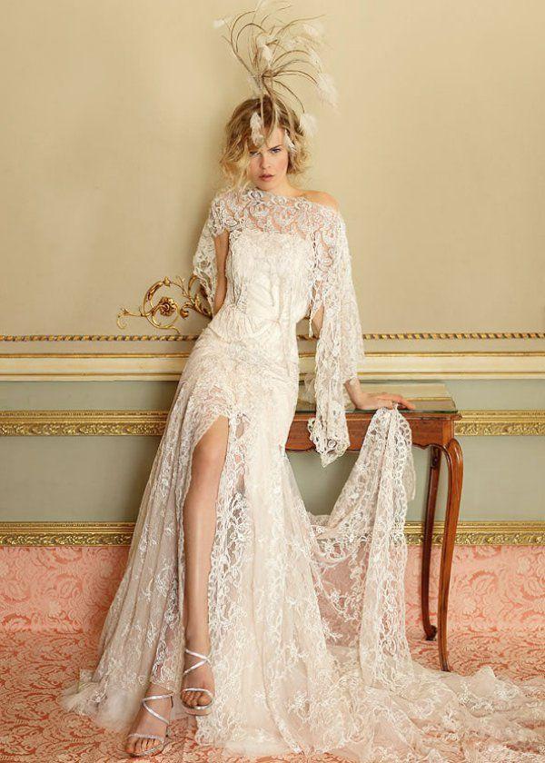 86e4509f8f3 Свадебное платье с разрезом на юбке Yolan Cris салон ЖениховНет ...
