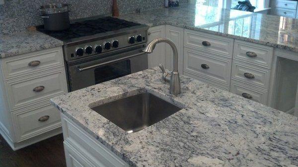 white ice granite white kitchen cabinets kitchen island countertop ideas contemporary kitchens. Black Bedroom Furniture Sets. Home Design Ideas