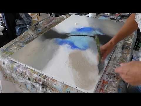 Abstract Painting Techniques - Démonstration peinture acrylique (14 - peinture bois et fer