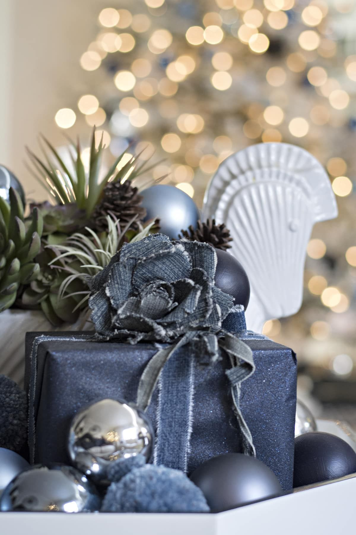 Denim blue and white Christmas images
