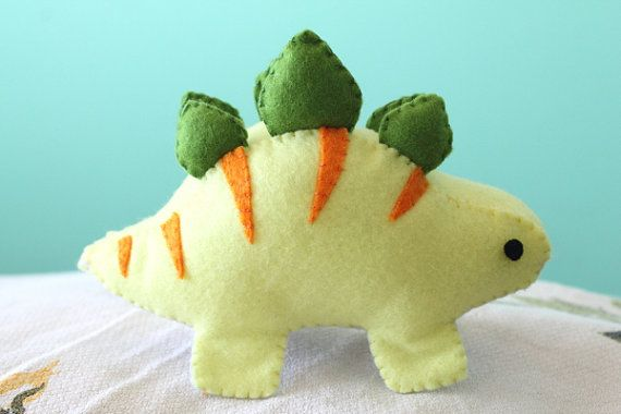 PDF Pattern - Felt Stegosaurus Dinosaur Plush | Jungs, Tier und Nähen