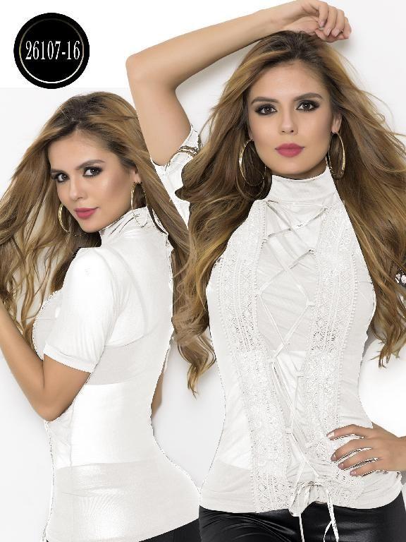 c20ed6eb4 Blusa Moda Colombiana Cereza - Ref. 111 -26107-16 Beige