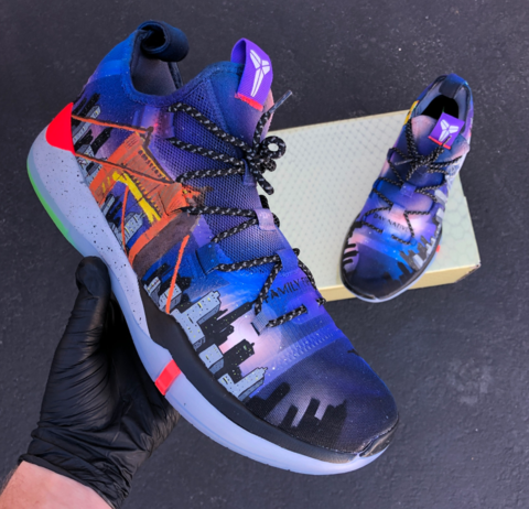 cheap 2018 sneakers elegant shoes Bay Area Custom Painted Kobes Basketball Shoes ! in 2020 ...