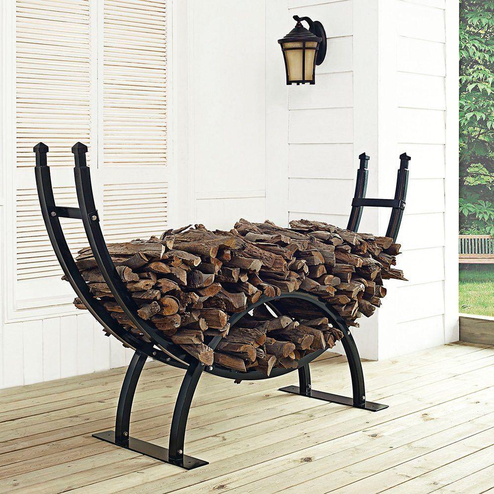 Durable Steel Frame Non Toxic Sealed Powder Coated Finish Generous 6u0027 Wide  Storage Area · Outdoor Firewood RackFirewood ...